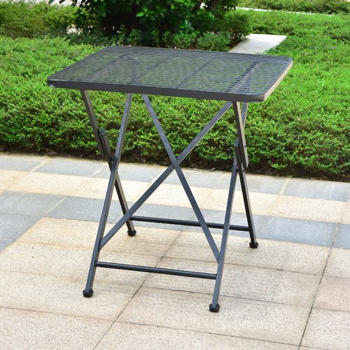 Darby Home Co Signe Folding  Metal Bistro Table