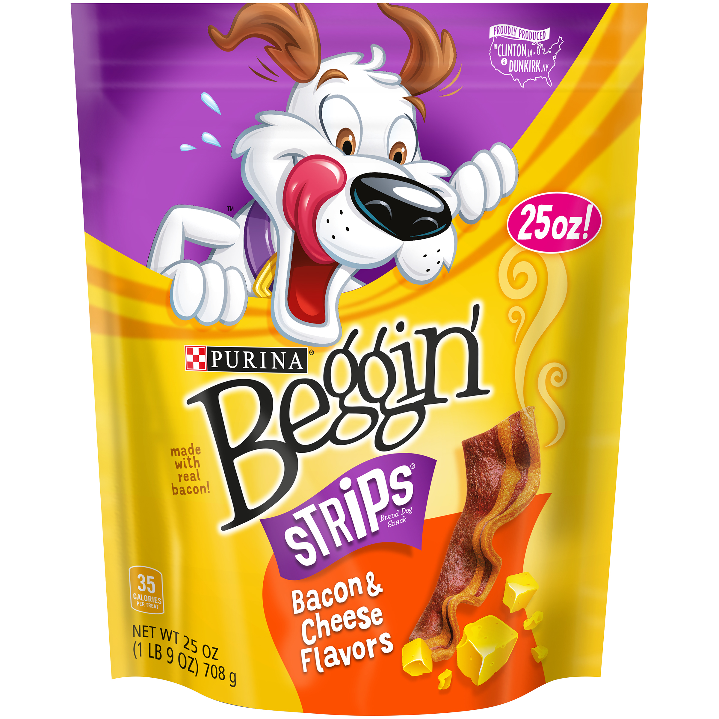 Purina Beggin' Strips Bacon & Cheese Flavors Dog Snacks 25 oz. Pouch