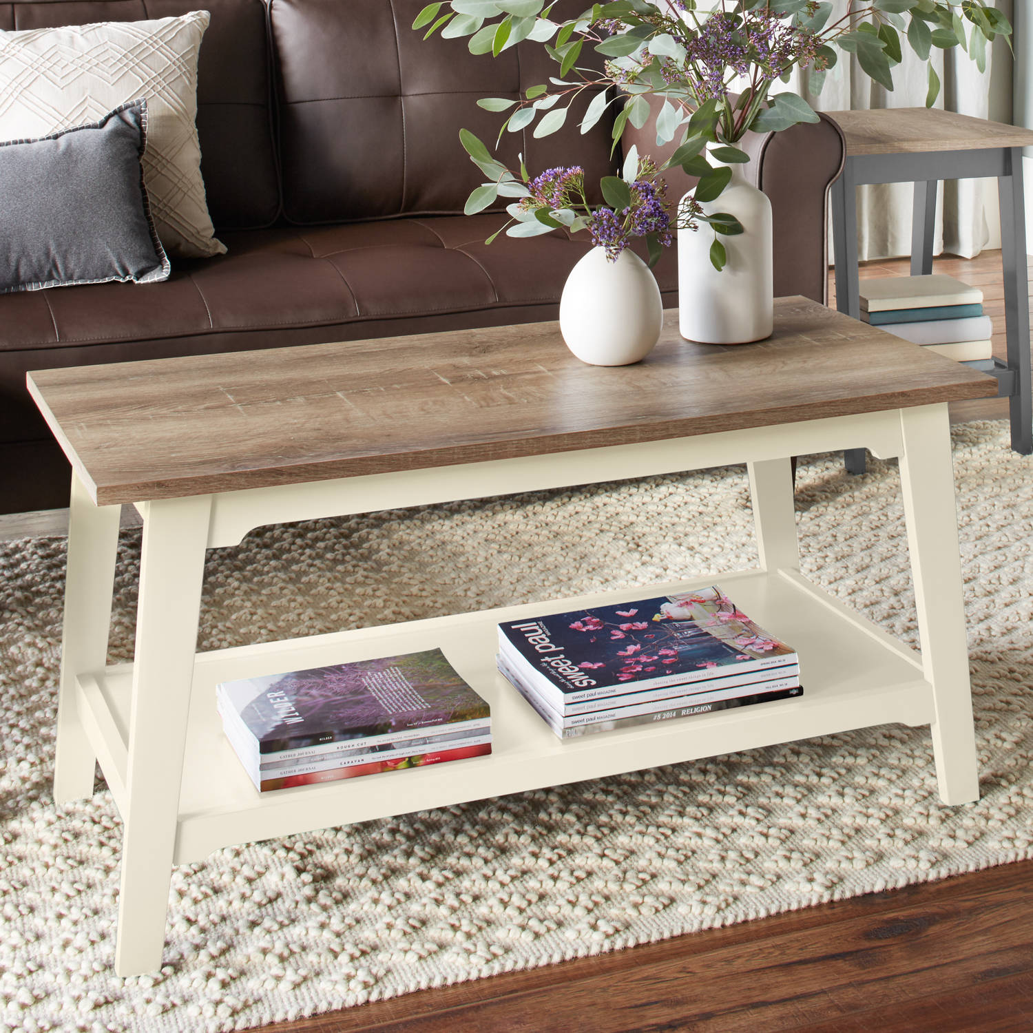 Better Homes And Gardens Bedford Coffee Table, Ivory