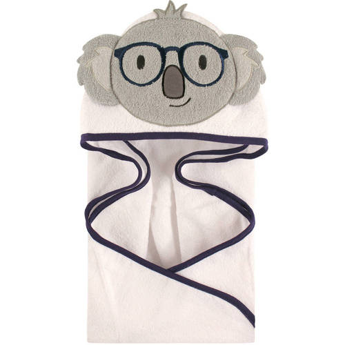Hudson Baby Woven Terry Animal Hooded Towel, Smart Koala