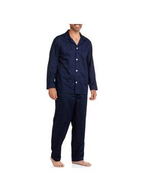 Fruit of the Loom Men's and Big Men's Long Sleeve, Long Pant Pajama Set