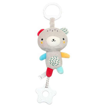 Topboutique Baby multi-function dental adhesive pendant music plush toy  dental adhesive bed hanging