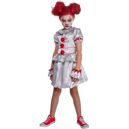 Circus Clown Costume (Girl's Vintage Sinister Circus Carnival Clown)