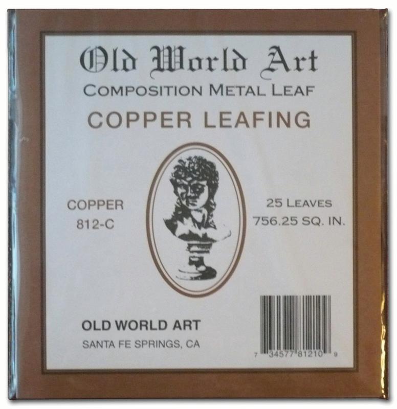 "Old World Art Metallic Leafing Sheet, 5.5"" x 5.5"", Copper"