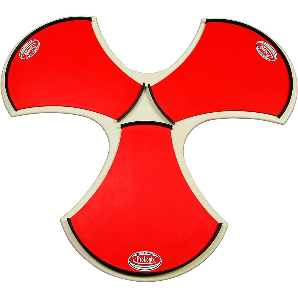 ProLogix Percussion Tri-Sectional Practice Pad Red Logix