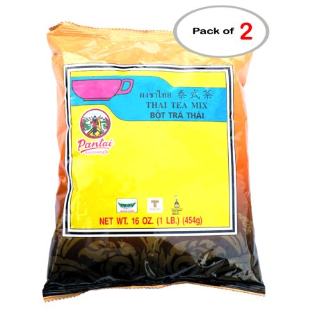 Pantai Thai Iced Tea Mix, Cha Dam Yen, Traditional Restaurant Style, 16 oz / 1 LB, Pantainorasingh (Pack of (Thai Milk Tea)