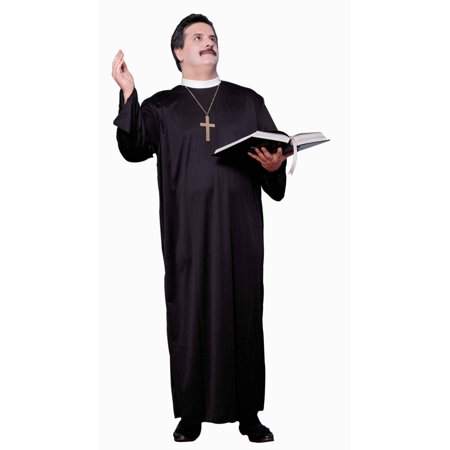 Mens Church Religious Priest Pastor Cleric With Collar Costume X-Large 44-48