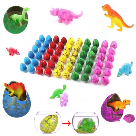 60 Dinosaur Grow Eggs 1.25 Inches - Grows Like Magic! - Cool Colors and Styles - Perfect For Easter or Birthday Parties - Just Add Water and Watch Them Hatch And Grow - Prefilled For Egg Hunts](Easter Birthday Party)