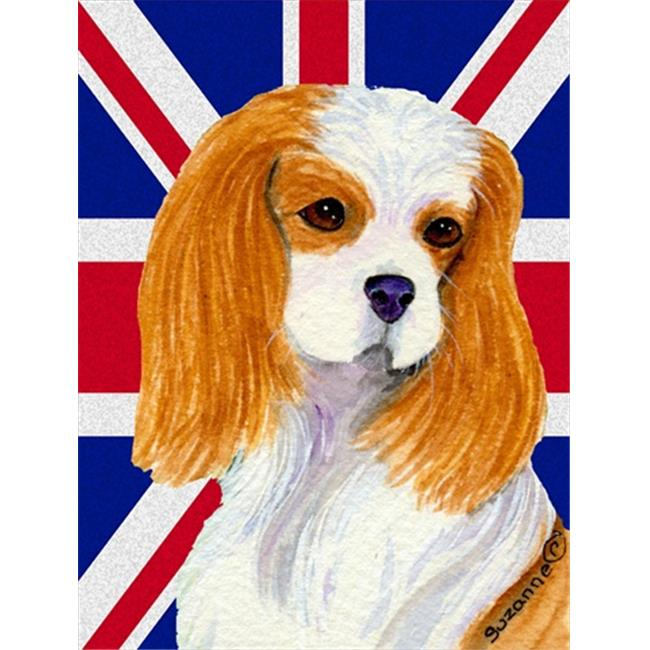 Carolines Treasures SS4969CHF Cavalier Spaniel With English Union Jack British Flag Flag Canvas House Size - image 1 de 1
