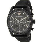 Armani AR6051  Stainless Steel Case Black Canvas Mineral Men's Watch