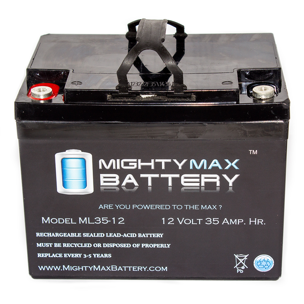 12V 35AH SLA Internal Thread Battery for Lawn Tractors 1722 1732 1822 by Mighty Max Battery