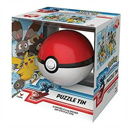 Pokemon Pokeball Poke Ball Sphere Puzzle Tin - 100 Piece Puzzle - Colors May Vary (Puzzle Ball Solution)