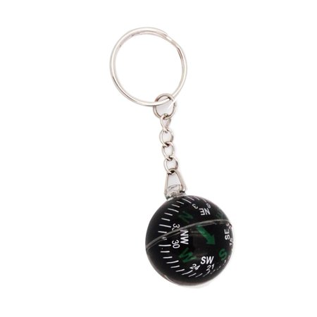 Travel Compass (28mm Liquid Filled Compass Keychain Outdoor Camping Hiking Travel Survival Gear)