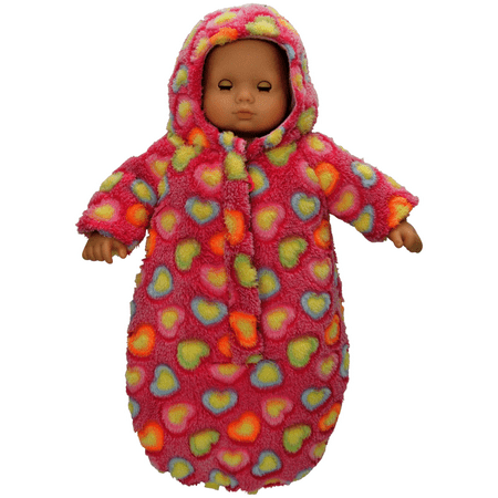 The Queens Treasures 15 Inch Baby Doll Soft Plush Bitty Bunting Snow Suit Pink   Also Sold Separately For Twins In Purple