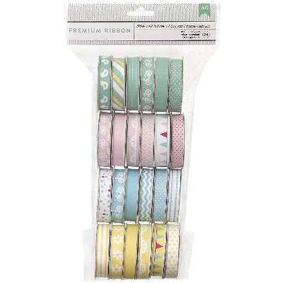 "Spring Value Pack Premium Ribbon, 24 Spools, .375"" x 4'ea"