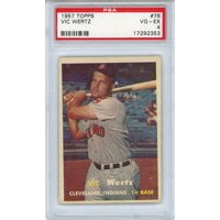 Vic Wertz Cleveland Indians 1957 Topps #78 PSA 4 Card - Topps