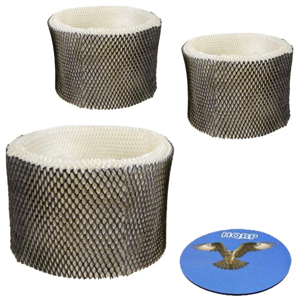 HQRP Filter 3-pack for Honeywell HC-14 HCM6009 HCM6011 HCM6011i HCM6011ww HCM6012 HCM6012i HCM6013i HCM6010 Humidifier + HQRP Coaster