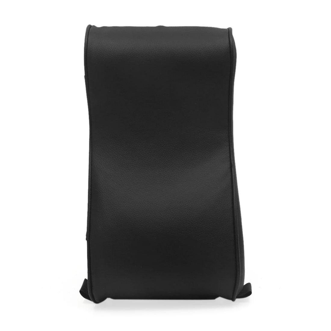Black Faux Leather Memory Foam Car Auto Center Console Armrest Cushion Pad - image 4 of 4