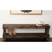 Rustic Contemporary Farmhouse Solid Wood Bench Large Seat by Del Hutson Designs
