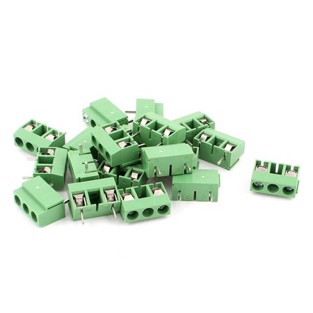 20 pcs AC 300V 10A PCB Connecteur Bornier à vis 10mm Green - image 1 de 1