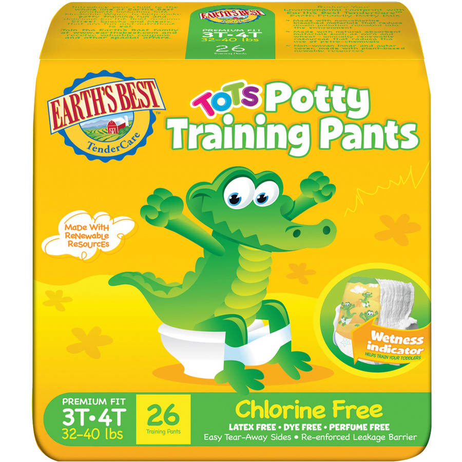 Earth's Best TenderCare Tots Potty Chlorine Free Training Pants (Choose Your Size)
