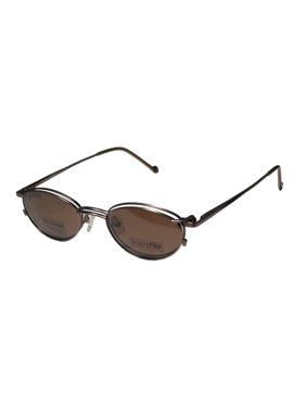 481a4e19548b Product Image New Smartflip 405-B Mens Womens Designer Full-Rim Shiny Brown  With Polarized