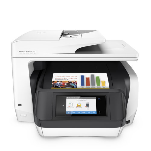 HP M9L75A#B1H Officejet Pro 8720 Inkjet Multifunction All-in-One Printer/Copier/Scanner/Fax Machine (Replaces Officejet Pro 8620)