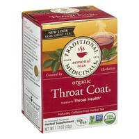 Traditional Medicinals, Organic Throat Coat, Tea Bags, 16 Ct