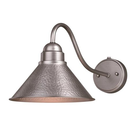 Vaxcel International T0491 10 in. Outland Long Arm Outdoor Wall Light in Brushed Pewter Classic Pewter Outdoor Wall