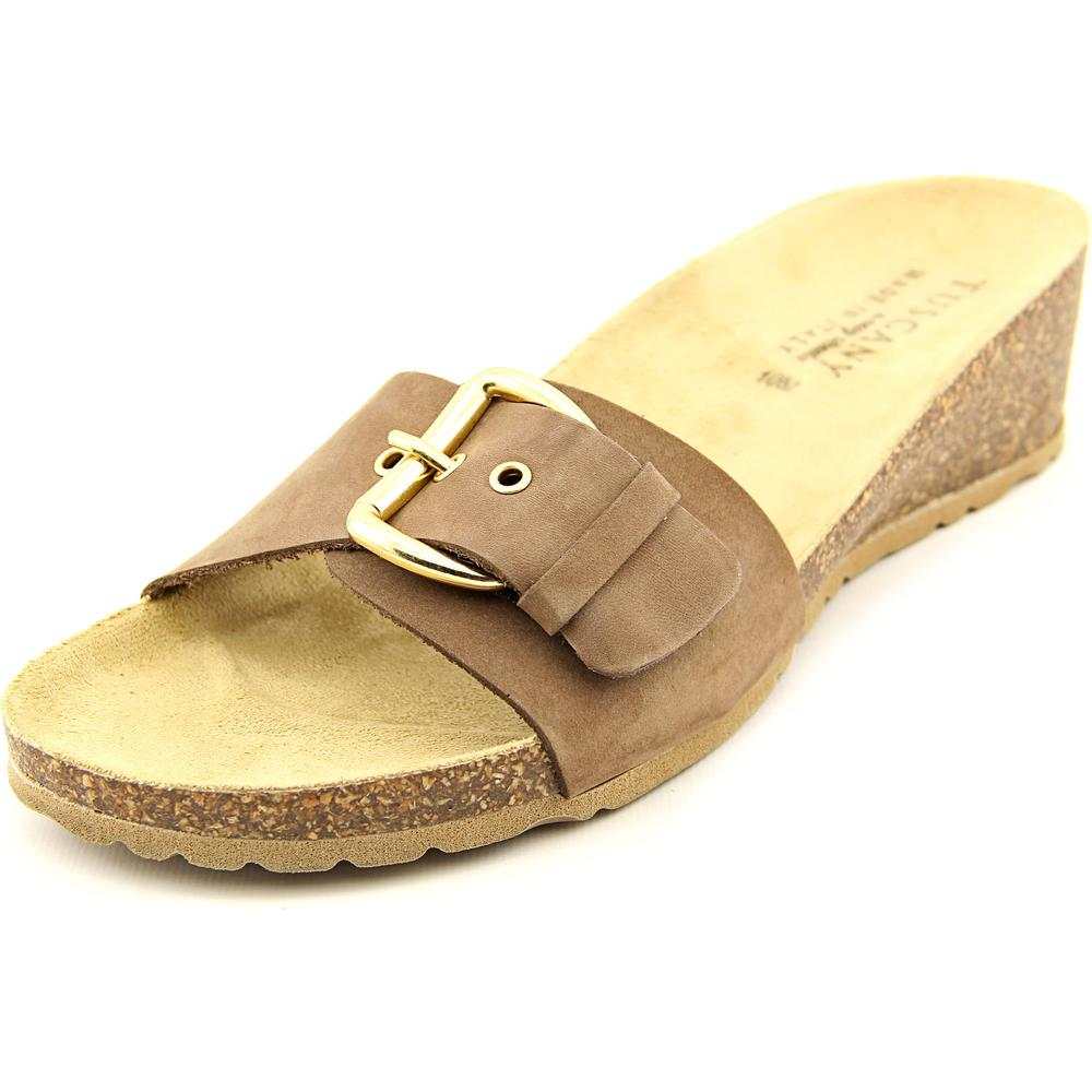 Easy Street Amico Women Open Toe Leather Slides Sandal by Easy Street