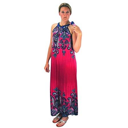 Peach Couture Bohemian Fashion Exotic Paisley Print Plus Size Halter ...