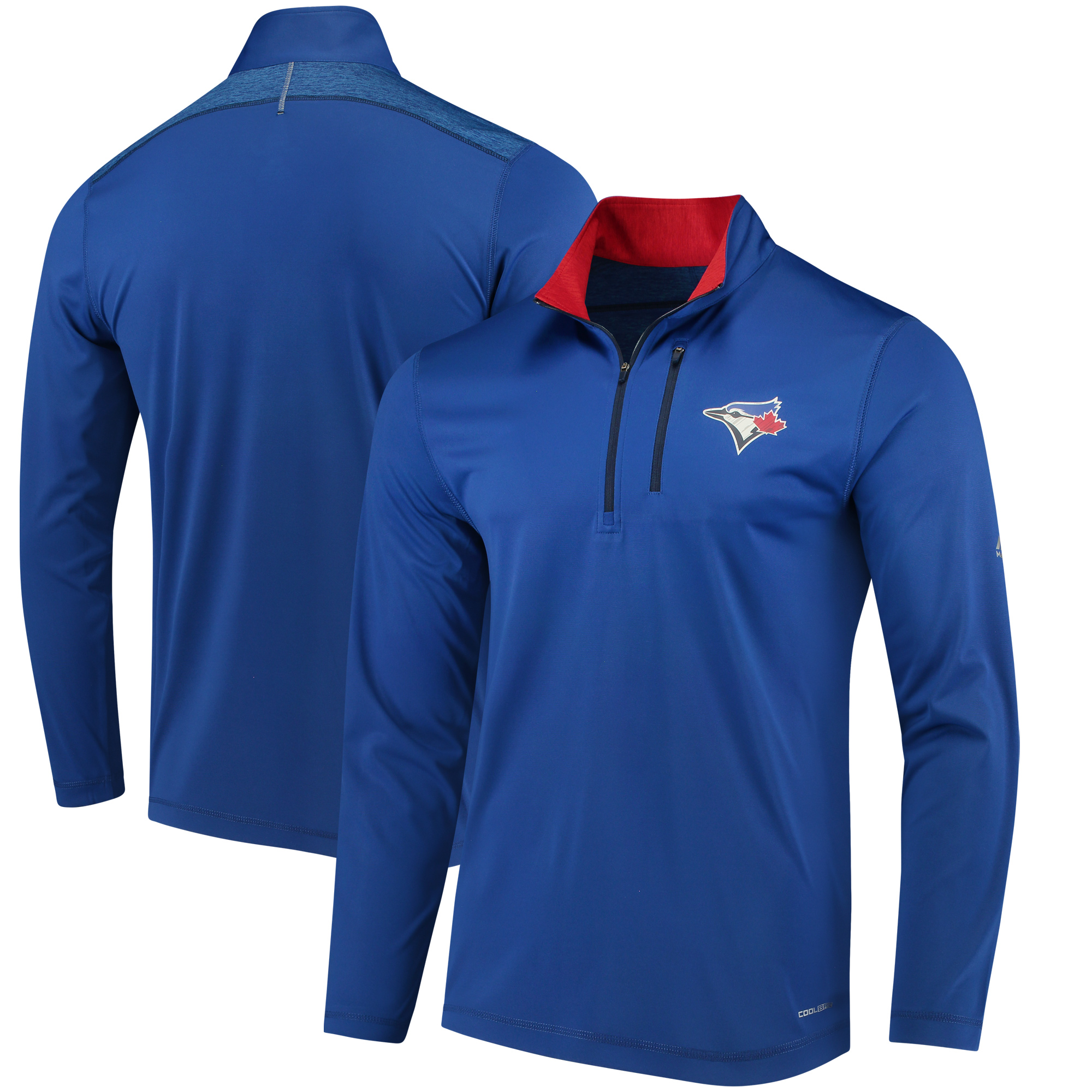 Toronto Blue Jays Majestic Half-Zip Pullover Top - Royal