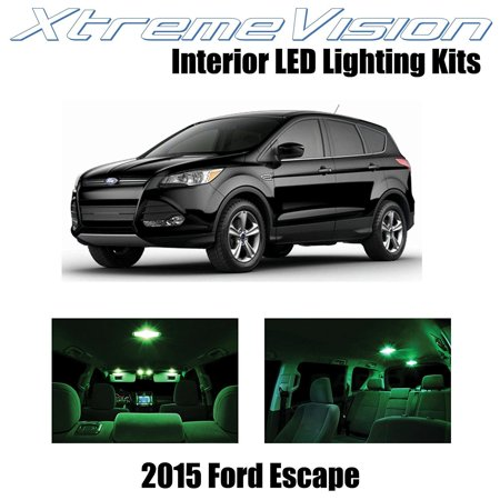 XtremeVision LED for Ford Escape 2015+ (3 Pieces) Green Premium Interior LED Kit Package + Installation Tool