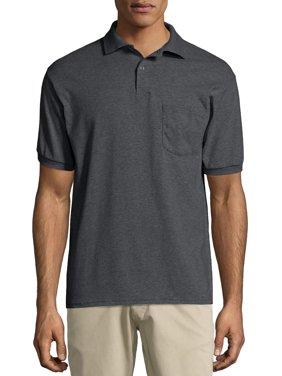 Hanes Men's Ecosmart Jersey Polo Shirt with Pocket