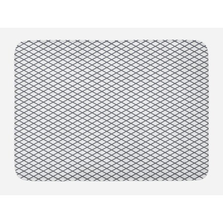 Modern Bath Mat Geometrical Stripes Crossing Zig Zag