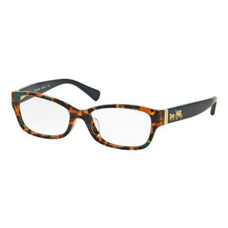 1a97db8276 COACH Eyeglasses HC 6078 5337 Teal Confetti Teal 54MM