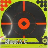 BIRCHWOOD CASEY 12 INCH SHOOT N C REACTIVE TARGETS- 3 SHEET PACK, 72 REPAIR PASTERS