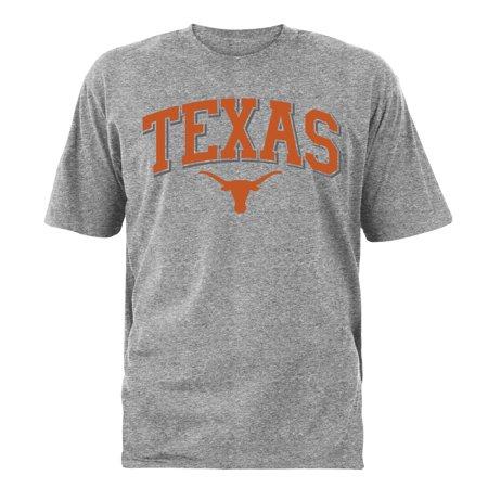Texas Longhorns Natural (Men's Gray Texas Longhorns Tough Arch T-Shirt)