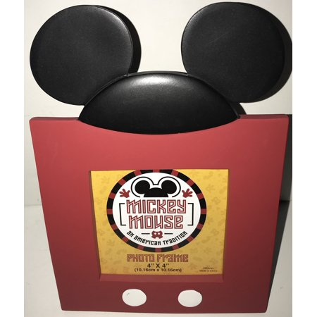 Disney Parks Mickey Mouse An American Tradition 4 x4 Picture Photo Frame - Mickey Mouse Frame