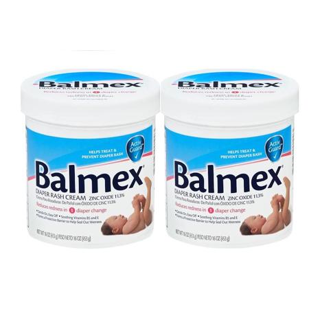 Balmex crème avec l'érythème fessier L'oxyde de zinc paquet de 16 oz de 2