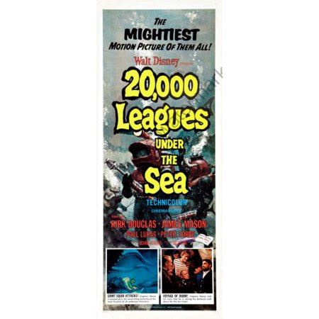 20000 Leagues Under The Sea Movie Poster Insert 14inx36in