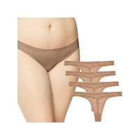 OnGossamer (4 Pack) Mesh Thong Underwear Plus Size Sexy Womens Seamless Panties Sheer Lingerie
