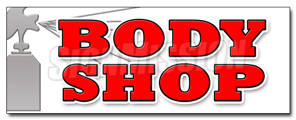 "36"" BODY SHOP DECAL sticker car auto body shop wreck fix ding dent supplies by SignMission"