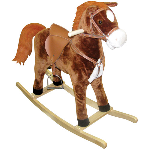 "Charm Company ""Hercules"" Large Rocking Horse, Moving Mouth & Tail"