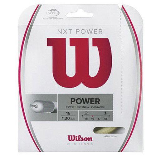 Wilson NXT Power Tennis Racket String, 16-Gauge