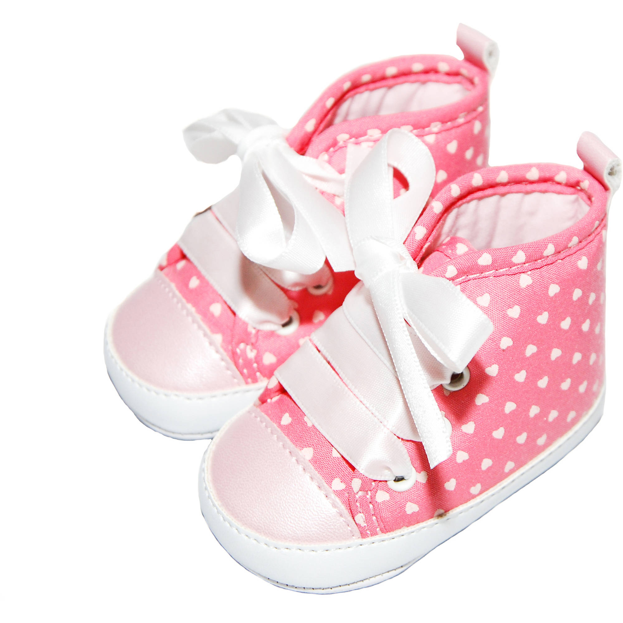 Child of Mine by Carter's Newborn Baby Girl Heart Printed Hightop, 0-3M