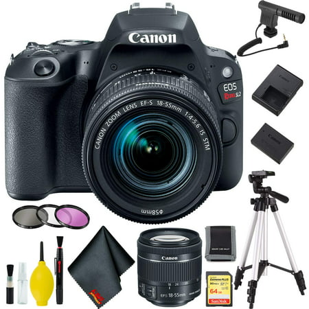 Canon EOS Rebel SL2 DSLR Camera +18-55mm Lens (Black) w/Microphone