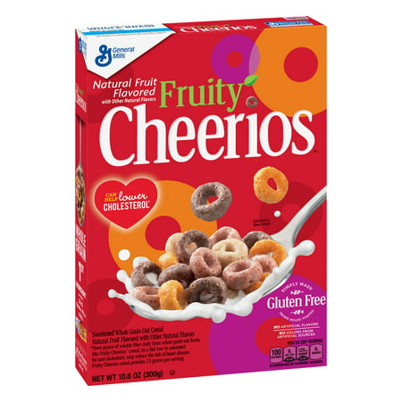 (2 Pack) Fruity Cheerios, Gluten Free, Breakfast Cereal, 10.6 oz -