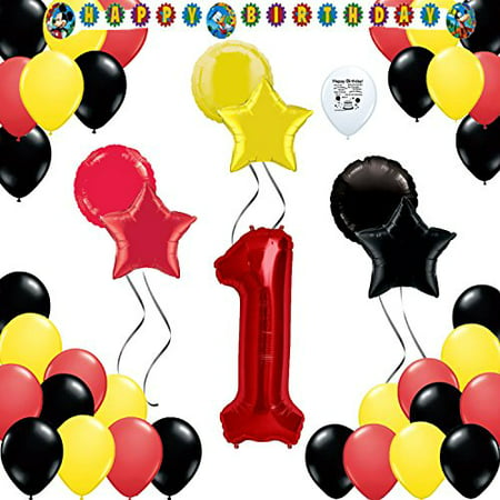 Mickey Mouse Party Supplies Colors Party Supplies 1st Birthday Balloon Decoration Kit - Baby Mickey First Birthday