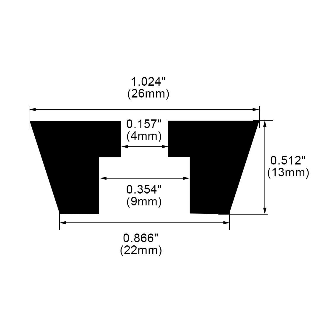 9pcs Rubber Feet Bumper Pads Amplifier Audio Instrument Printer, D26x22xH13mm - image 3 de 7